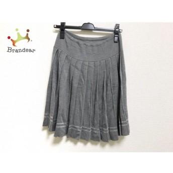 ロイスクレヨン Lois CRAYON スカート サイズM レディース 美品 グレー ニット/プリーツ スペシャル特価 20190820