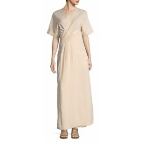 アバアンドアイデン レディース ワンピース Striped Wrap Maxi Dress
