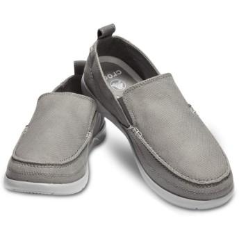 【クロックス公式】 ワルー スリップオン メン Men's Walu Slip-On メンズ、紳士、男性用 グレー/グレー 25cm,26cm,27cm,28cm,29cm loafer ローファー 靴 40%OFF