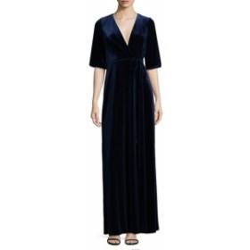 エイダンマトックス レディース ワンピース Velvet Surplice Dress