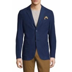Men Clothing Alan Cotton Notch Lapel Blazer