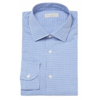アンティカキャメリア Men Clothing Check Normal Point Collar Dress Shirt