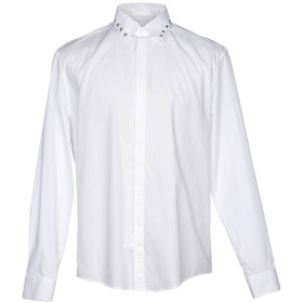 《期間限定 セール開催中》VERSACE COLLECTION メンズ シャツ ホワイト 44 95% コットン 5% ポリウレタン