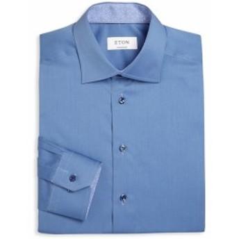 イートン Men Clothing Regular Fit Solid Cotton Dress Shirt