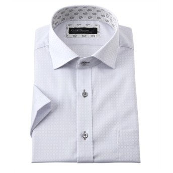 ノーアイロン。消臭。吸汗速乾半袖ワイシャツ(ショート衿ワイドカラー) (ワイシャツ)