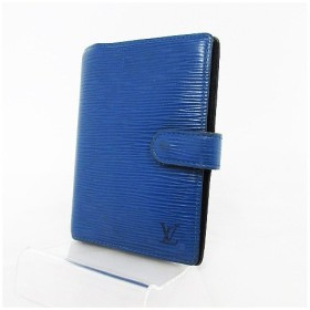a563650033a8 ルイヴィトン LOUIS VUITTON 手帳カバー エピ アジェンダPM R20055 CA0977 ブルー 青 レディース 【中古