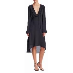 バレンシアガ レディース ワンピース Solid Ruffle Dress