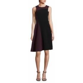 パーカー レディース ワンピース Colorblock Sleeveless Midi Dress