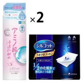 肌ラボ 極水アミノ浸透化粧水 400mL +シルコットうるうるスポンジ仕立て 1箱(40枚入)