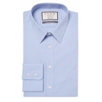 トーマスピンク Men Clothing Linden Spot Cotton Dress Shirt