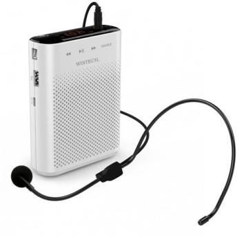 ポータブルハンズフリー拡声器 WINTECH KMA 210 KMA-210 ホワイトxブラック