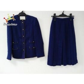 キミジマ kimijima スカートスーツ サイズ7 S レディース ブルー 肩パッド   スペシャル特価 20190822
