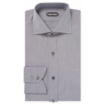 トムフォード Men Clothing Cotton Textured Spread Collar Dress Shirt
