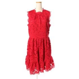 ケイトスペード KATE SPADE DESERT MUSE POPPY FIELD LACE DRESS ワンピース ドレス ひざ丈 ノースリーブ レース NJMU8945 4 赤 レッド btm0508 レディース