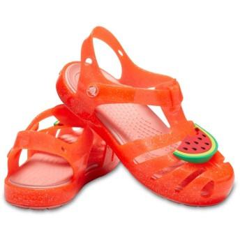 【クロックス公式】 クロックス イザベラ チャーム サンダル キッズ Kids' Crocs Isabella Charm Sandal ガールズ、キッズ、子供用、女の子 ピンク/ピンク 13cm,14cm,15cm,15.5cm,16.5cm,17.5cm,18cm,18.5cm,19cm sandal サンダル