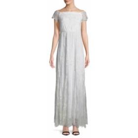 アリス+オリビア レディース ワンピース Aurelia Off-The-Shoulder Lace Gown