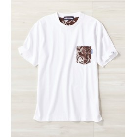 REYN SPOONER サーフポケットTシャツ メンズ ホワイト*ダークブラウン