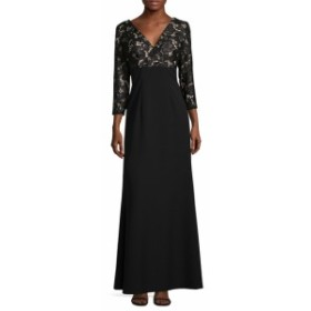 JS コレクションズ レディース ワンピース Lace Surplice Evening Gown