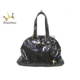 イヴサンローランリヴゴーシュ ショルダーバッグ ミューズバッグ 156465 黒×ゴールド              値下げ 20190806