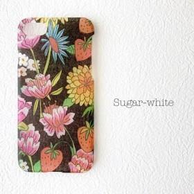 iPhone ケース ︎ Flower & strawberry: BK