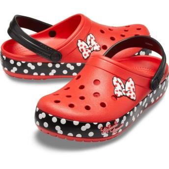 【クロックス公式】 クロックバンド ミニー ドット クロッグ Crocband Minnie Dots Clog ユニセックス、メンズ、レディース、男女兼用 レッド/赤 22cm,25cm clog クロッグ サンダル 20%OFF