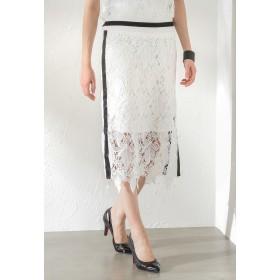 GUILD PRIME 【GUILD PRIME】WOMEN レーススカート その他 スカート,ホワイト2