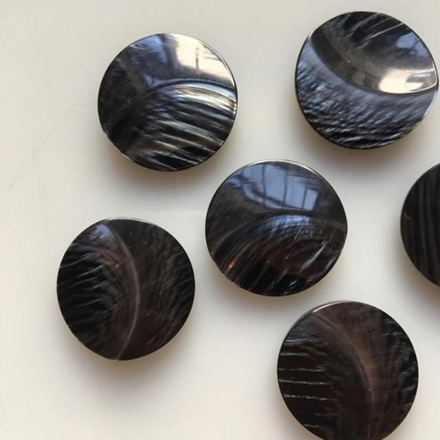 アンティーク ボタン 2個セット ビンテージ 昭和 レトロ 個性的 ハンドメイド素材 特大サイズ 2.5 黒 ブラック