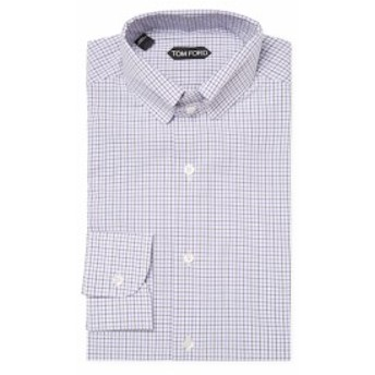 トムフォード Men Clothing Cotton Checkered Dress Shirt