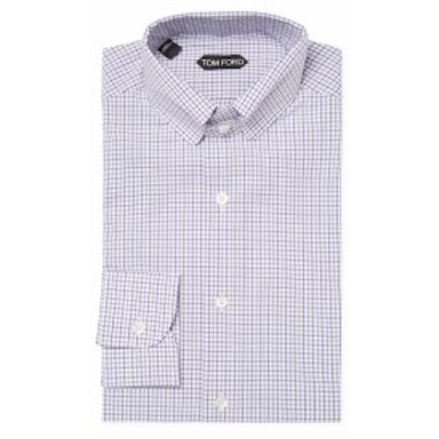 トムフォード Men Clothing Cotton Checkered Dress Shirt