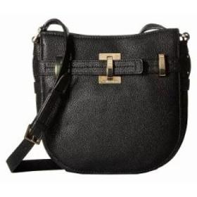 カルバンクライン ショルダーバッグ Faye Pebble Leather Messenger Black/Gold