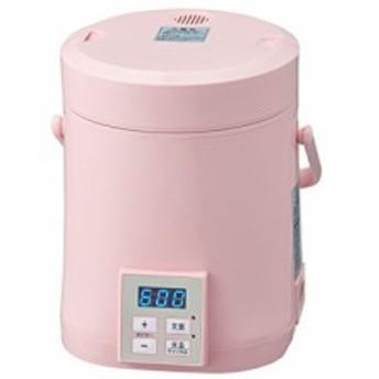 AL COLLE(アルコレ) ミニライスクッカー(ミニ炊飯器)タイマー付き ピンク A(中古品)