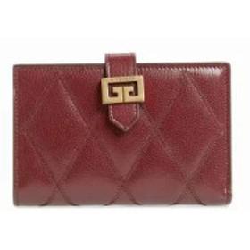 ジバンシー 財布 Medium GV3 Diamond Quilted Leather Wallet Aubergine