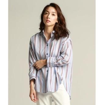 la.f...(大きいサイズ) / ラ・エフ(おおきいサイズ) カラーストライプゆったりシャツ