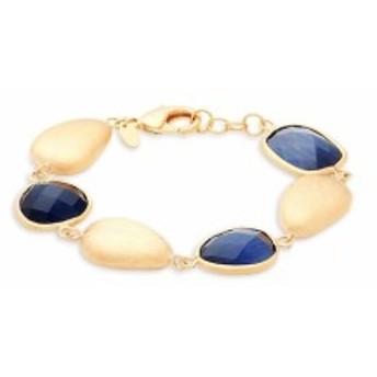 リブカフリードマン レディース ジュエリー Navy Crystal & 18K Gold Single-Strand Bracelet