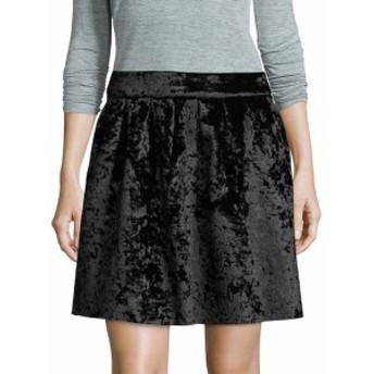 フューモーダ レディース スカート Pleated Velvet Mini Skirt
