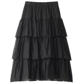 SALE 【59%OFF】 mizuiro ind ミズイロインド ティアードロングスカート ブラック