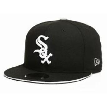 ニューエラ キャップ 9fifty callout trim chicago white sox snapback hat Black