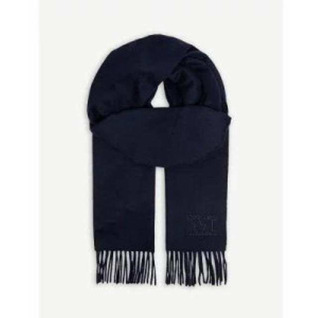 マックスマーラ マフラー・スカーフ・ストール logo cashmere scarf Ultramarine