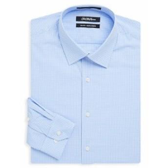 サックスフィフスアベニュー Men Clothing Gingham Cotton Dress Shirt