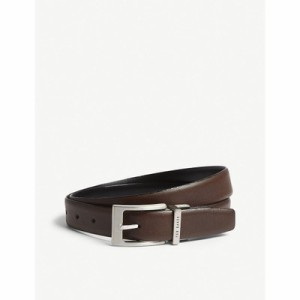 テッドベーカー lizwiz leather belt Chocolate ベルト