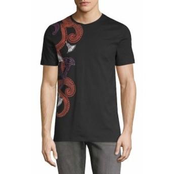 ヴェルサーチ Men Clothing Graphic Logo T-Shirt