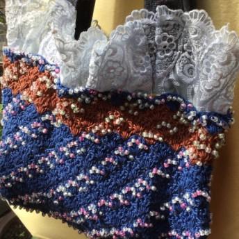エミーグランで編みました。