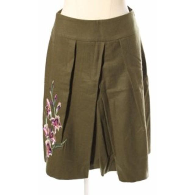 【中古】ヴィヴィアンタム VIVIENNE TAM ウール フラワー 刺繍 スカート ahm0509 レディース