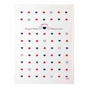綿毛布 トリコロール(オフホワイト)