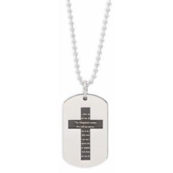 チゼル メンズ アクセサリー Stainless Steel Cross Necklace