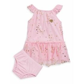 ジューシークチュール キッズ ガールズ スカート ドレス Babys Two-Piece Printed Ruffled Dress and Bloomers