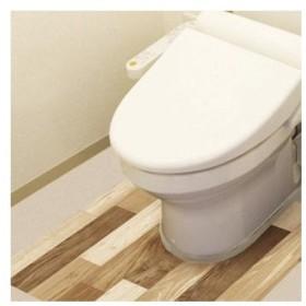 防水模様替えシート トイレ床用 90cm×80cm LBr(ライトブラウン) BKTY-9080