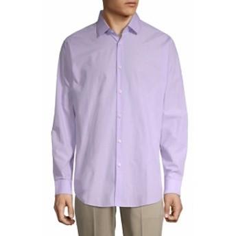 セオリー Men Clothing Spread Collar Long Sleeve Cotton Shirt