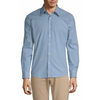 ハイデンヨー Men Clothing Plaid Cotton Button-Down Shirt