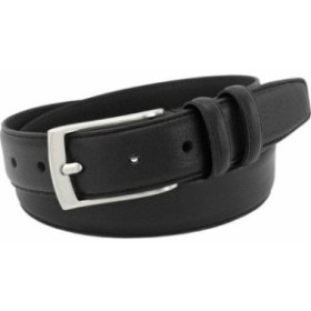 フローシャイム ベルト Italian Leather Single Stitch Edge Belt Black Full Grain Leather